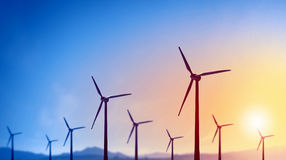 ветер альтернативной энергии Стоковое Изображение RF