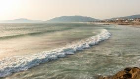 Ветер взметнул океан Стоковое Фото