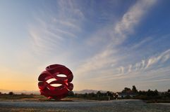 ветер волны скульптуры richmond пункта парка garry стоковое фото rf