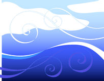 ветер волн Стоковое Изображение
