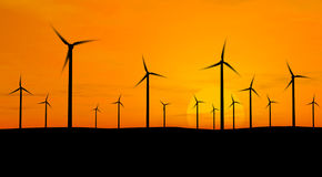 ветер генераторов Стоковая Фотография