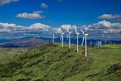 ветер горного склона фермы Стоковая Фотография RF