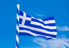 ветер Греции флага Стоковое Фото