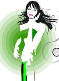 ветер девушки славный Стоковое фото RF