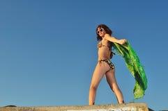ветер девушки Стоковое фото RF
