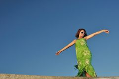 ветер девушки Стоковая Фотография RF