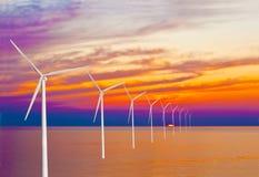 ветер захода солнца силы Стоковое фото RF