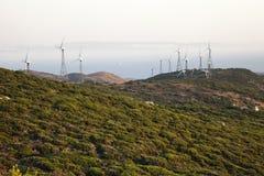 ветер захода солнца фермы Стоковое Фото