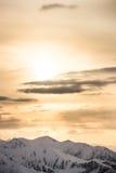 ветер захода солнца шторма абстракции Стоковая Фотография RF