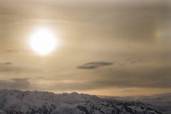 ветер захода солнца шторма абстракции Стоковые Фотографии RF