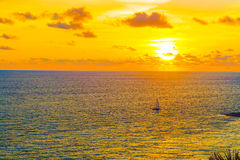 ветер захода солнца шторма абстракции Стоковые Изображения RF