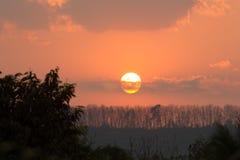 ветер захода солнца шторма абстракции Стоковое Изображение