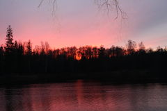 ветер захода солнца шторма абстракции стоковое изображение rf
