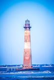 Ветер и тяжелый прибой на маяке острова Морриса стоковое изображение