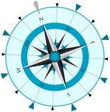ветер лимба картушки компаса Стоковое Изображение RF