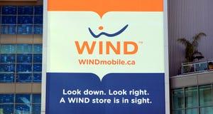 ветер логоса Стоковое Изображение RF