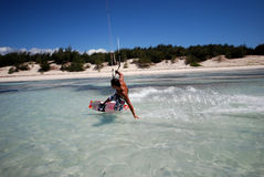 ветер Мадагаскара kiter Стоковое Фото