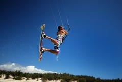 ветер Мадагаскара kiter Стоковые Фотографии RF
