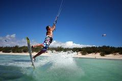 ветер Мадагаскара kiter Стоковая Фотография
