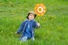 ветер мальчика Стоковое Фото