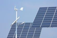 ветер миниой силы панелей солнечный Стоковая Фотография