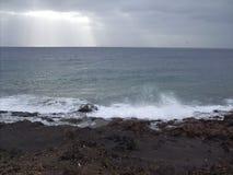 Ветер на белой воде Стоковая Фотография