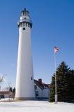 ветер пункта маяка Стоковая Фотография