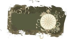 ветер сбора винограда вектора перемещения розы grunge рамки Стоковые Фото