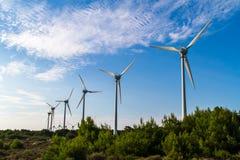 ветер способный к возрождению турбин fuerteventura Испании энергии Стоковое Фото