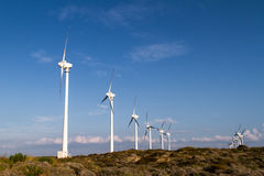 ветер способный к возрождению турбин fuerteventura Испании энергии Стоковые Фото