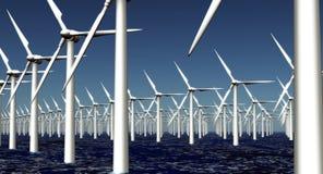 ветер турбины источника фермы альтернативной энергии иллюстрация штока