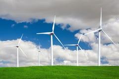 ветер турбины ландшафта стоковые изображения