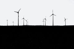 ветер турбины silouhette Стоковая Фотография