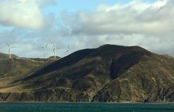 ветер турбин горного склона Стоковая Фотография RF