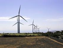 ветер турбин источника фермы альтернативной энергии Стоковое Изображение