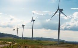 ветер турбин ландшафта сельский Стоковое фото RF