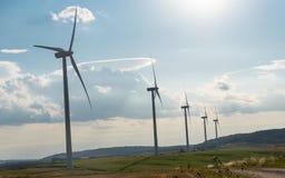 ветер турбин ландшафта сельский Стоковое Изображение RF