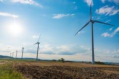 ветер турбин ландшафта сельский Стоковые Фотографии RF