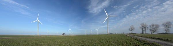 ветер турбин панорамы Стоковые Изображения RF
