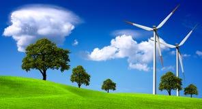 ветер турбин фермы Стоковое фото RF