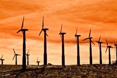 ветер турбин экологически чистая энергия Стоковая Фотография
