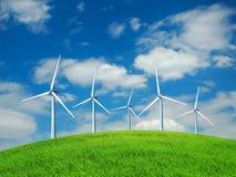 ветер турбин иллюстрация штока