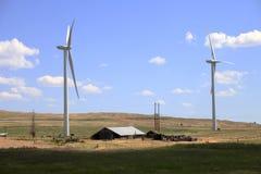 ветер турбин farmfield Стоковые Изображения RF