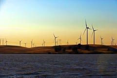 ветер фермы перепада стоковая фотография
