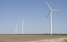 ветер электричества приведенный в действие генераторами Стоковые Фото