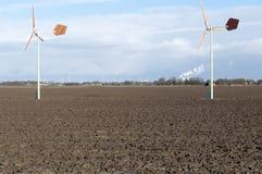 ветер энергии зеленый Стоковые Изображения RF