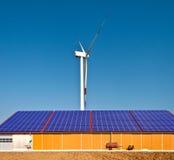 ветер энергии солнечный Стоковое Изображение