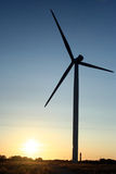 ветер electrogenerator стоковое изображение rf