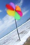 ветер pinwheel пляжа Стоковое Изображение RF