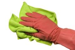 ветошь руки перчатки Стоковые Изображения RF